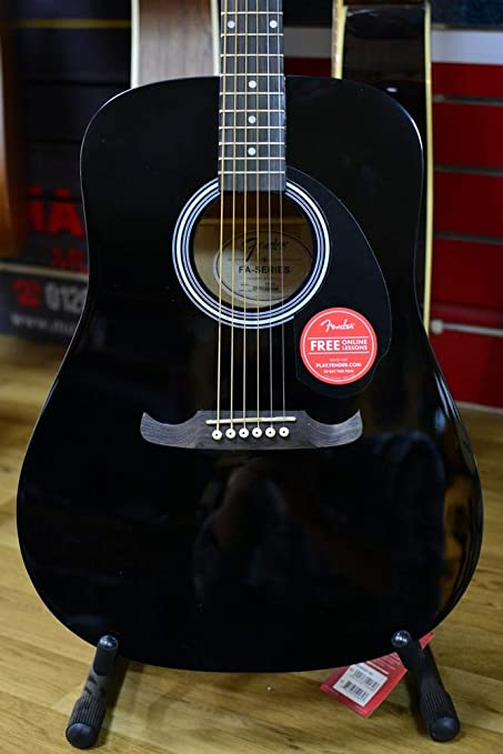 Fender FA-125 Dreadnought Black: Amazon.es: Instrumentos musicales