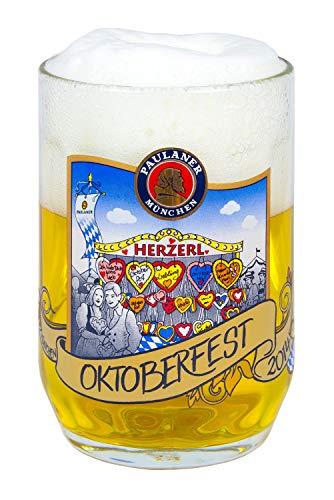 Paulaner Oktoberfest 2014 Seidel Beer Mug Glass Tankard 16.9oz | 0.5l