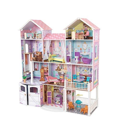 51sdONJd7JL - KidKraft So Chic Dollhouse with Furniture