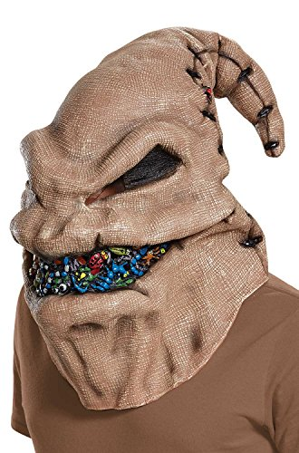 Disguise Men's Oogie Boogie Vinyl Mask, Multi, One Size -