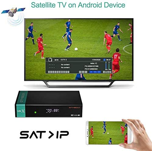 GTMEDIA V8X Full HD 1080P DVB-S/S2/S2X FTA Receptor de satélite Digital FTA Compatible con WiFi PowerVu, Biss Key, H.265, V8 Nova Upgrade