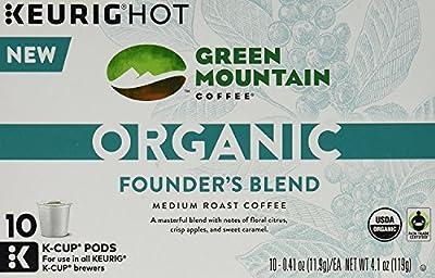 Green Mountain Organic Coffee K-cups 30 Pack(3 10 Packs)