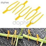 Cacys Store 100 Pcs Garden Plant Clips Plastic Stolons fixing fastening Fixture clamp strawberry fork Farming Clip Garden tools