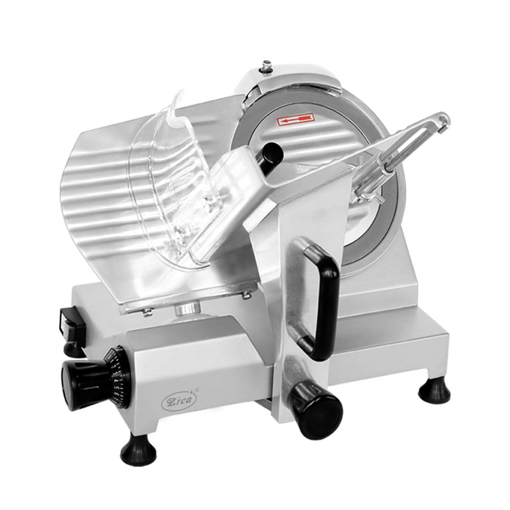 Zica 10'' Chrome-plated Carbon Steel Blade Electric Deli Meat Cheese Food Ham Slicer Commercial and for Home use ZBS-10A by Zica