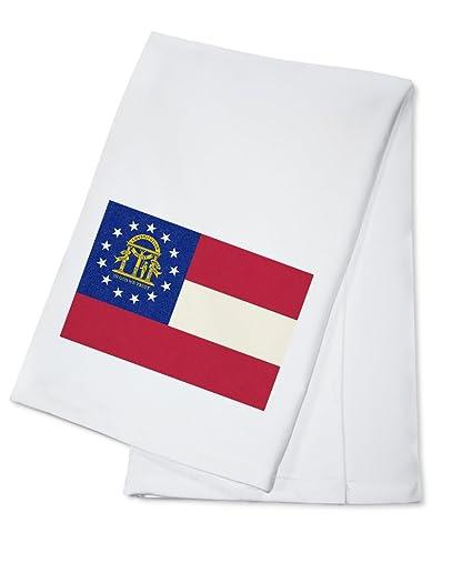 Bandera de Georgia State – Moldes (100% algodón toalla de cocina ()