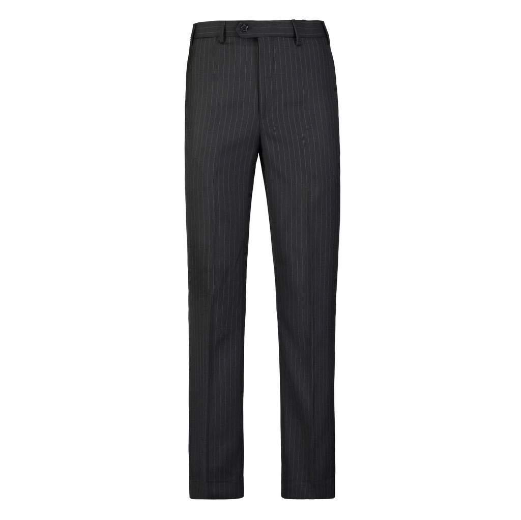 Giovanni Uomo Mens No Pleat Front Pin Striped Dress Pants Black 30 Medium