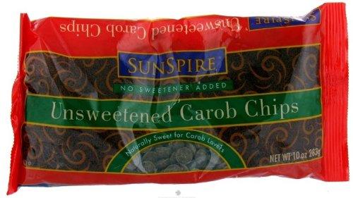 SunSpire Unsweetened Carob Baking Chips -- 10 oz