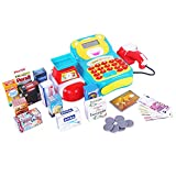 large calculator cash register - Cash Register Toy, Supermarket Pretend Play Electric Calculator Money Register Early Learning Centre toy set for kids