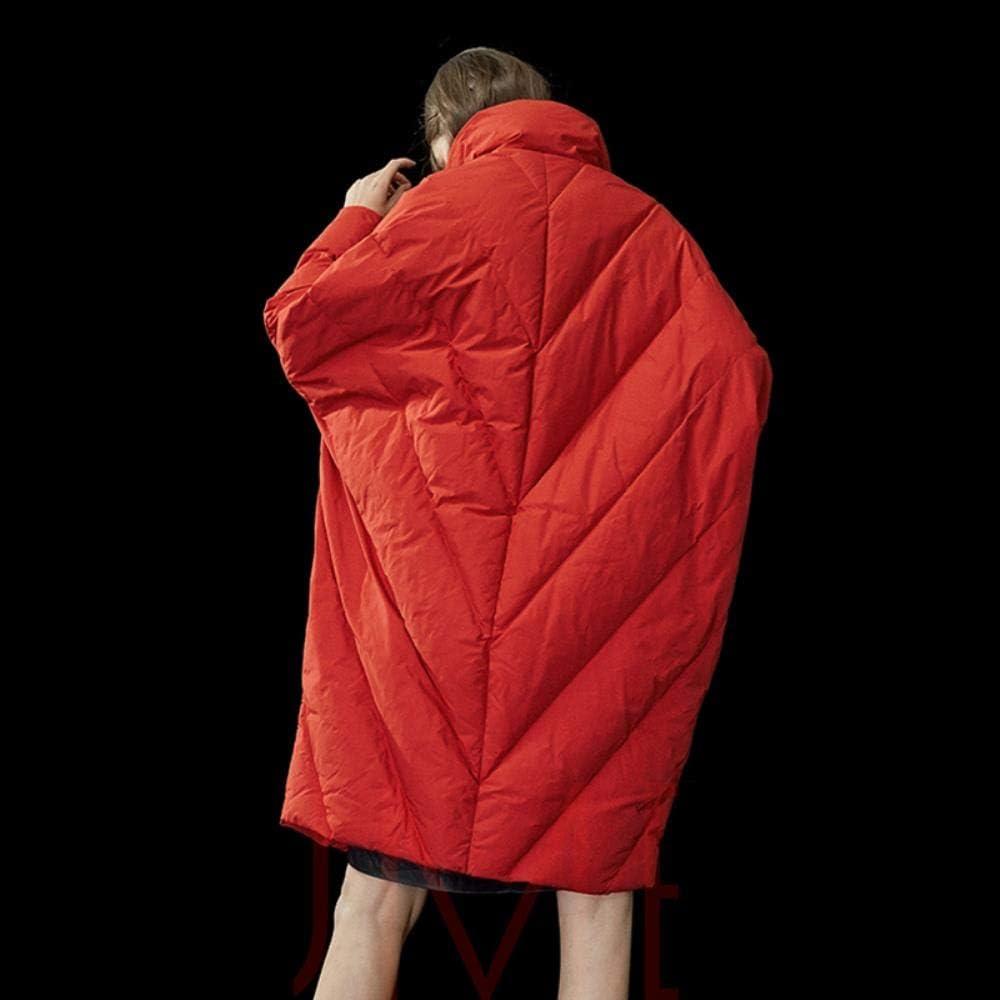 A-gavvzq Winter Women Long Down Jacket Warm Coat Oversize Outwear Plus Size Women Thicken Parkas Red
