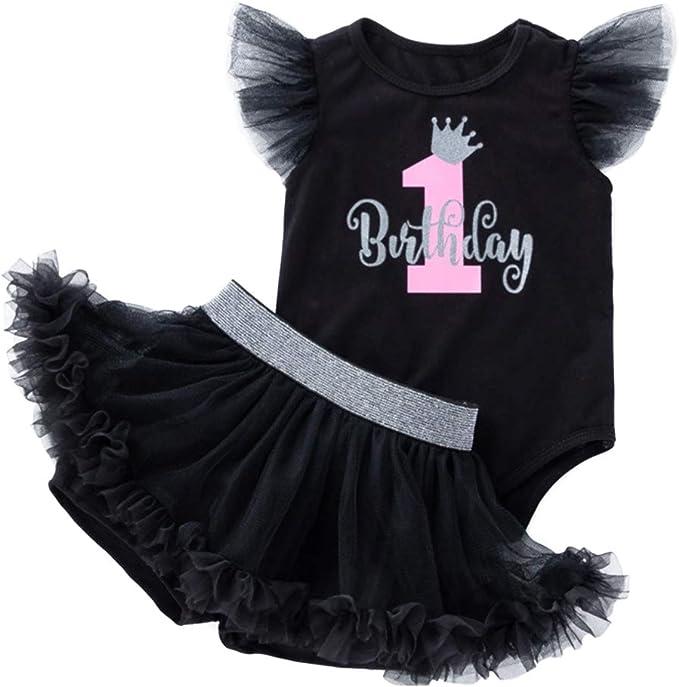 Amazon.com: Conjunto de 3 piezas de ropa para bebé de tul ...