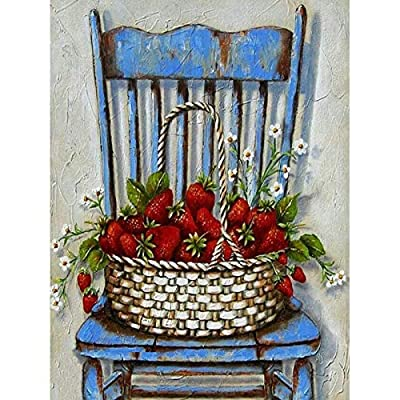 Diy Oil Painting, Paint By Number Kits -Strawberry On the Chair,16X20 Inch: Everything Else