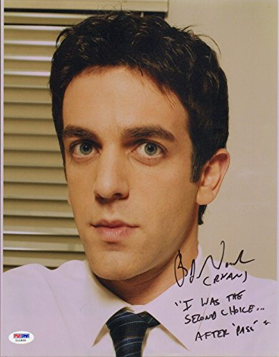 B.J. Novak Signed The Office 11x14 Photo COA w/Quote Picture Autograph - PSA/DNA Certified