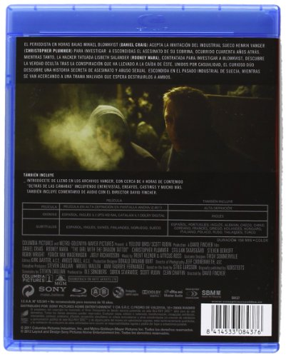 Millennium: Los Hombres Que No Amaban A Las Mujeres Blu-ray: Amazon.es: Daniel Craig, Rooney Mara, Christopher Plummer, Stellan Skarsgard, Steven Berkoff, ...