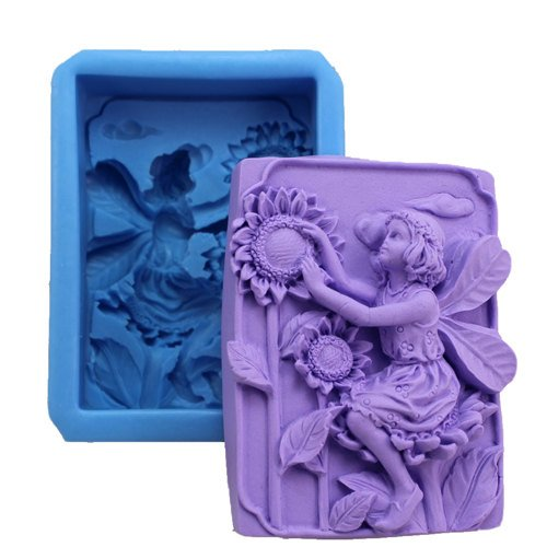 Fairy and Sunflower 0564 Craft Art Silicone Soap mold Craft Molds DIY Longzang