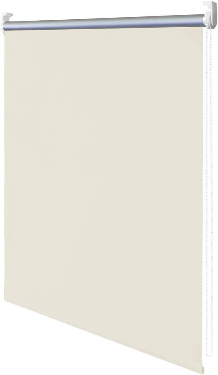 wolketon Verdunkelungsrollo Klemmfix ohne Bohren 40cm x 160cm Beige Verdunklungsrollo Fensterrollo Rollo Seitenzugrollo Klemmrollo f/ür Fenster /& T/ür