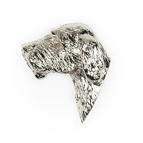 Italian Artistic Jewelry - ITALIAN SPINONE Made in U.K Artistic Style Dog Clutch Lapel Pin Collection