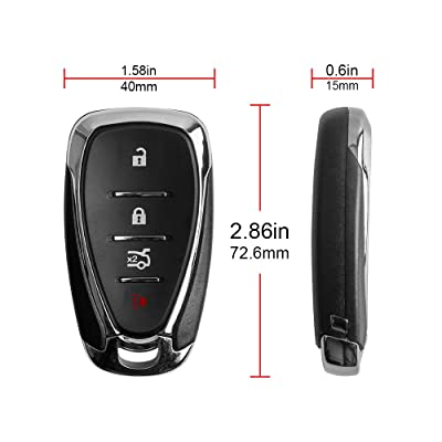 VOFONO Keyless Entry Remote Smart Key Fob 433 Mhz HYQ4EA for 2016-2020 Chevy Malibu/2016-2020 Chevy Camaro Pack of 1: Automotive