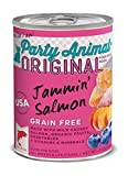 Party Animal Jammin' Salmon Recipe Dog Food, 13 Ounce Cans (Case of 12)
