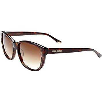b59b07efdd Image Unavailable. Image not available for. Color  Juicy Couture 518 S  Women s Lifestyle Sunglasses - Dark Havana Brown ...