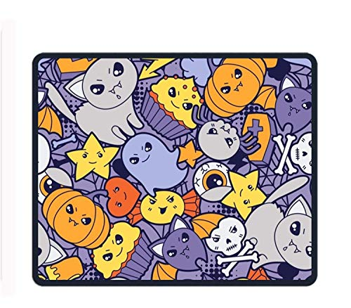 Roonyete Shop Naughty Pumpkin Mouse Pad/Mat Stitched Edges Non-Slip Rubber Mousepad 11.8/9.85/0.12 -