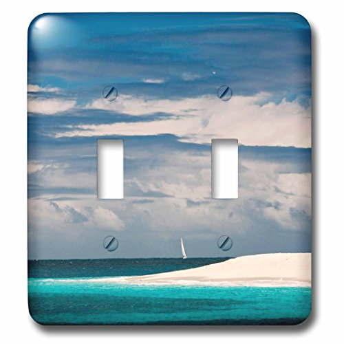 Danita Delimont - Islands - Palm Island, Grenadines, British West Indies - Light Switch Covers - double toggle switch - The Beach West Outlets Palm