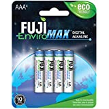 Fuji EnviroMAX Super Digital Alkaline Eco Friendly Batteries (Pack of 12, AAA)