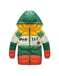 Pretty Tiger Children's Colorful Stripe Warm Winter Boy's Long Coat