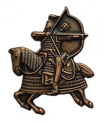 Mongol Warrior on horseback, attacking with bow and arrow Pin/Brooch