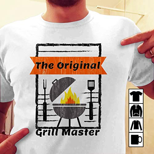 Grilling Cool The Original Grill Master T Shirt Long Sleeve Sweatshirt Hoodie Youth