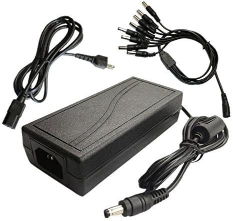 Lsgoodcare 12V 7A CCTV Surveillance Power Adapter /& 1 to 8 Power Splitter and AC Plug for CCTV Surveillance Security Cameras