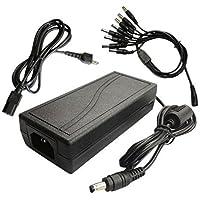 Lsgoodcare 12V 7A CCTV Surveillance Power Adapter & 1 to 8 Power Splitter and AC Plug for CCTV Surveillance Security Cameras
