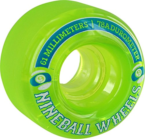Sector 9 9 Ball Clear Lime Longboard Wheels - 61mm 78a (Set of 4)