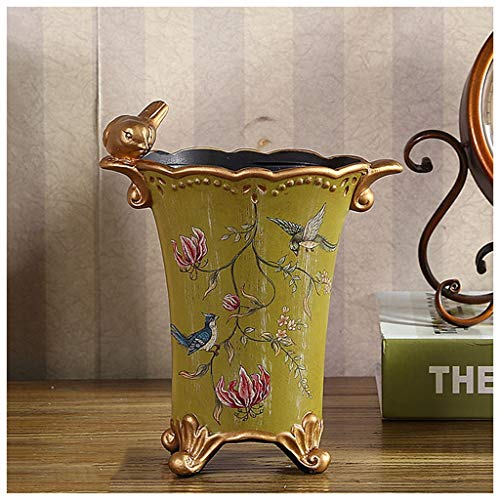 LIUDONGXIN Vase Creative Hand-Painted Flowers and Birds Vases Personality Home Living Room Village Dried Flowers Inserted Vase Ceramics (Color : B)