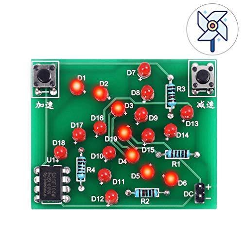 WHDTS C51 DIY Digital Electronic Clock Kit Alarm Clock Kit Soldering Practice Learning Kits (Windmill)