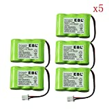 5x Pack VTech BT17333 Battery - Replacement Battery for VTech Cordless Phone (600mAh, 3.6V, NI-MH)