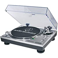 Audio-Technica AT-LP120BK-USB Direct-Drive Professional Record Player (USB & Analog) (Silver)