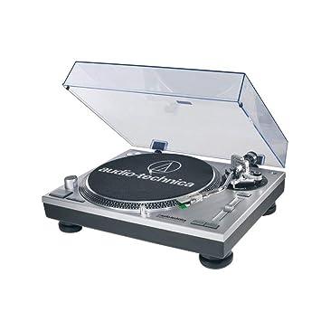 Audio-Technica AT-LP120 - Tocadiscos para equipo de audio (USB, 11 W, 50 dB), plateado