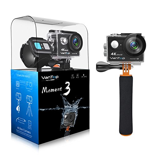 VanTop MOMENT 3 4K Sports Action Camera with 29 GoPro Compatible Accessories Bundle, HD 4K WIFI Waterproof DV Camcorder, 12MP 170 Degree Wide Angle with 2 1050mAh Batteries and 2.4G Remote Control Shenzhen Shun Xiang Electronic Technology Co., Ltd