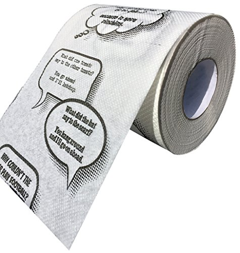 Ideas In Life Joke Toilet Paper - Novelty Funny Gag Gift Bathroom Paper Roll Jokes On Every Square Fits On Any Holder