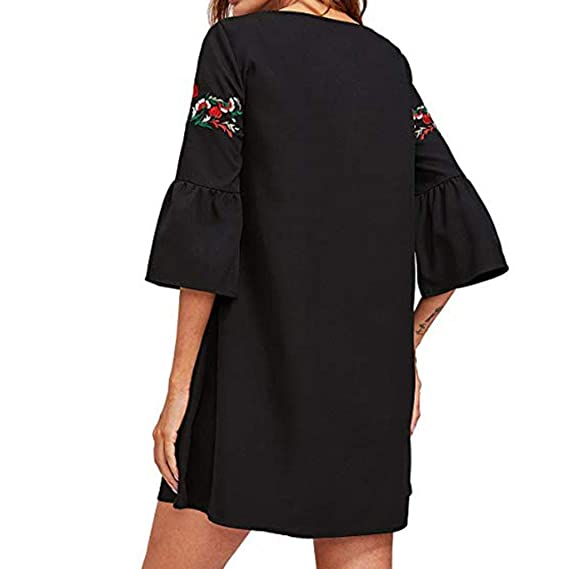 POLP Vestidos Cortos Mujer, Vestido Fiesta Mujer, Tallas Grandes Vestidos, Ropa otoño Mujer, Mujer Vestido de Algodón, Vestido Manga Larga Mujer, ...