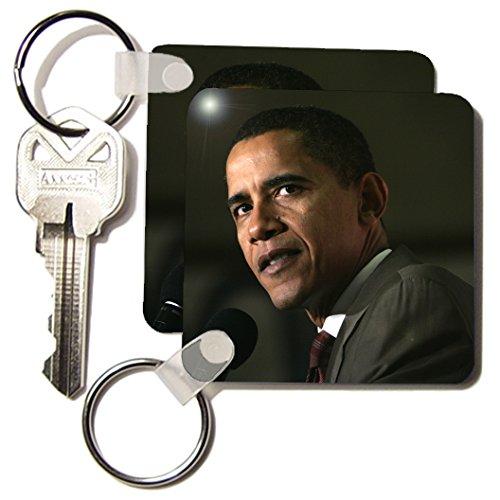 African Americans - Barack Obama - Key Chains - set of 2 Key Chains (kc_3865_1) (Key Barack Obama)