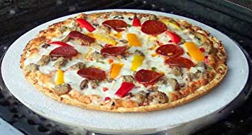 fibrament-d redondo casa horno para pizza (piedra 15.5-inches