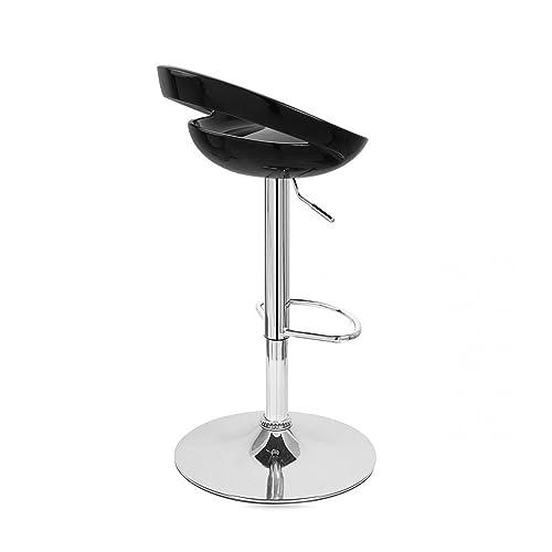 Rho Contemporary Adjustable Barstool – Black Licorice
