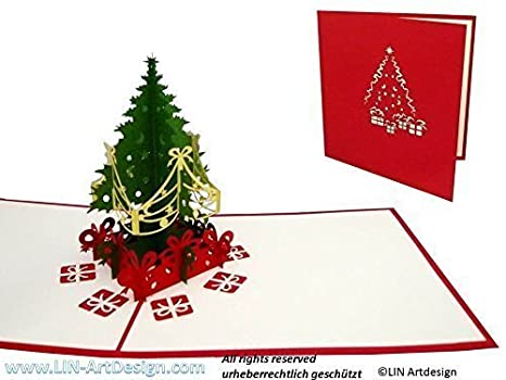 Carte de voeux sapin pop up
