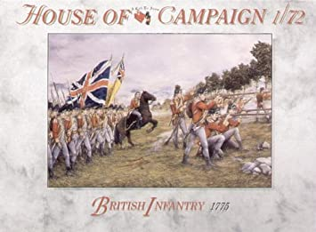 British infantry 1775-1:72 A Call To Arms Action- & Spielfiguren