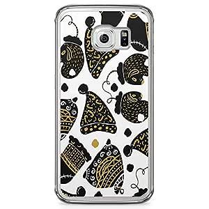 Samsung Galaxy S6 Edge Transparent Edge Phone Case Christmas Ornaments Phone Case Bells