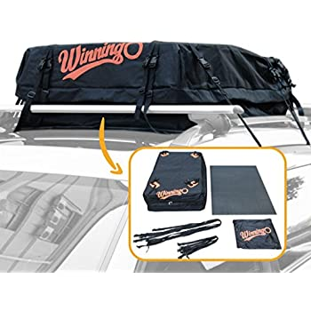 Winningo Waterproof Roof Top Cargo Bag Easy to Install Soft Rooftop Luggage Carriers (common)