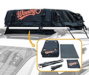 Winningo Waterproof Roof Top Cargo Bag Easy to Install Soft Rooftop Luggage Carriers with CAR ROOF MAT