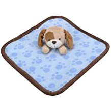 Baby Boys Plush Puppy Dog Security Blanket