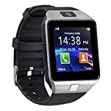 Sazooy DZ09 Bluetooth Smart Watch Touch Screen Smart Wrist Watch Phone Support SIM TF Card With Camera Pedometer Activity Tracker for Iphone IOS Samsung Android Smartphones (Silver)